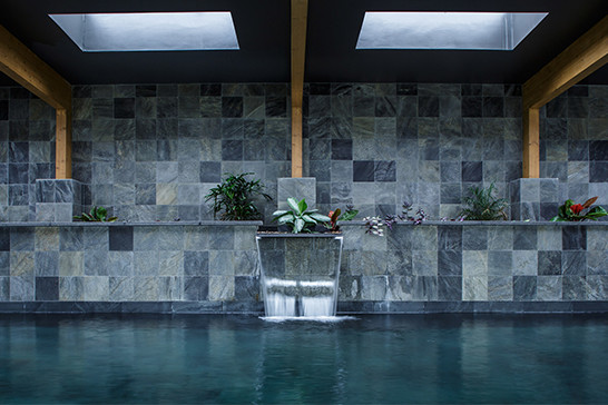 The Pool House water fall